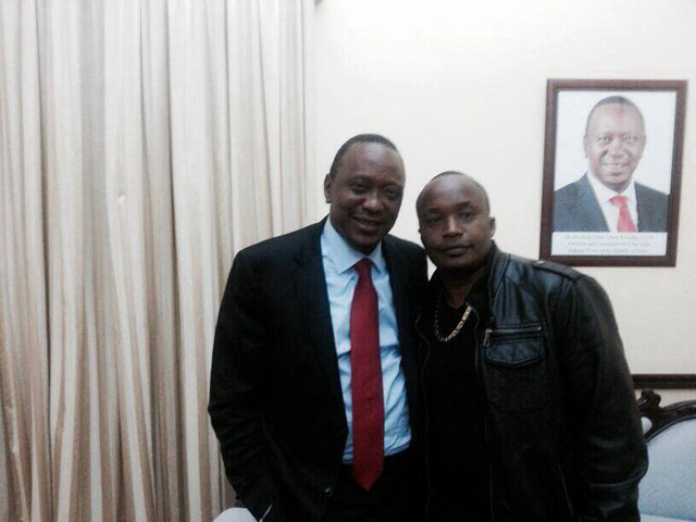 Jaguar with one of his best friends President Uhuru Kenyatta