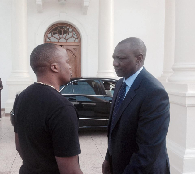 Jaguar and the deputy president of Kenya William Ruto. The two are close friends