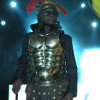 Chameleone strikes an all business pose during his performance