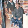 Irene Ntale posing with a friend at a shop in Ntinda in the early 2000s