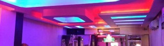 The bar's interior looks posh