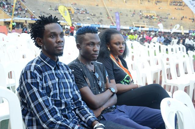 Mun G, Nati Nathan and Rema Namakula At Namboole on Saturday