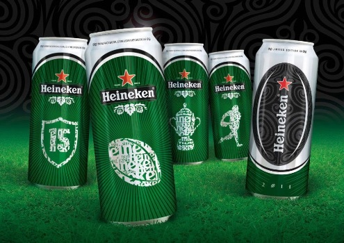 Heineken is the official sponsor of Rugby World Cup