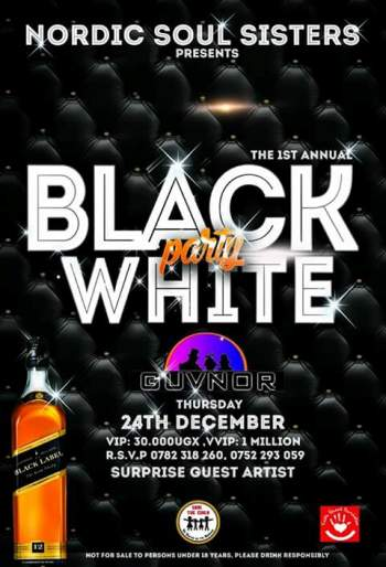 Black and white party poster