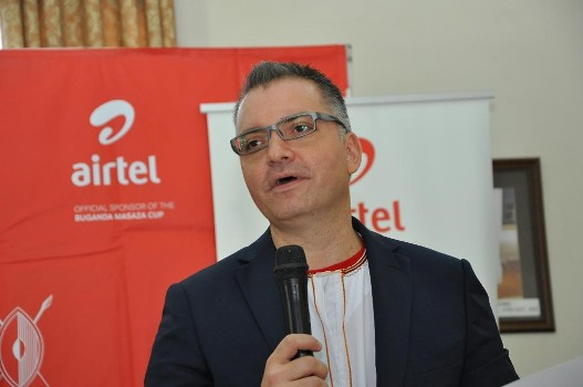airtel-uganda-managing-director-anwar-soussa-giving-a-speech-at-the-official-announcement-of-masaza-cup-sponsorship-at-bulange-mengo