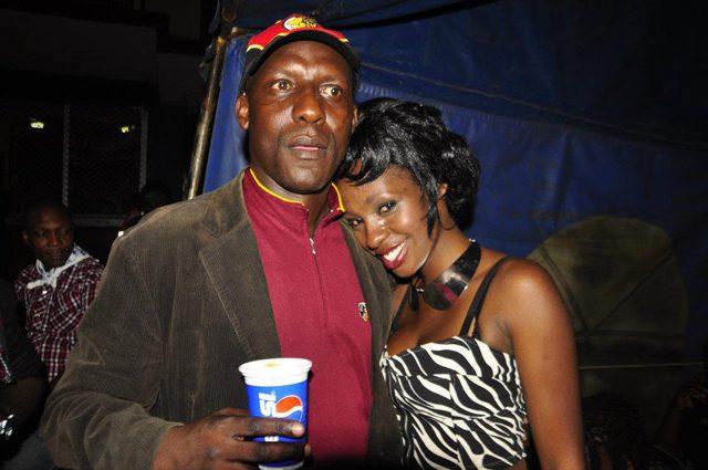 Dixon Okello with singer Cindy