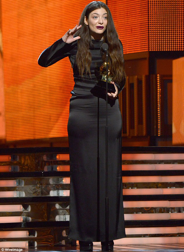 17-year-old singer Lorde won an award for her global hit single Royal