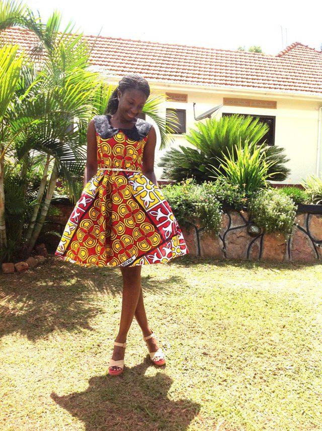 Carol Mugasha donning her own dress from Kunda Fashion