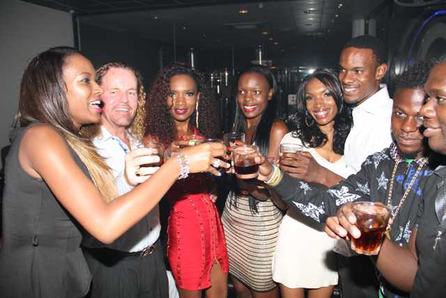 Family and friends joined Barbara for a drink up at Club Venom