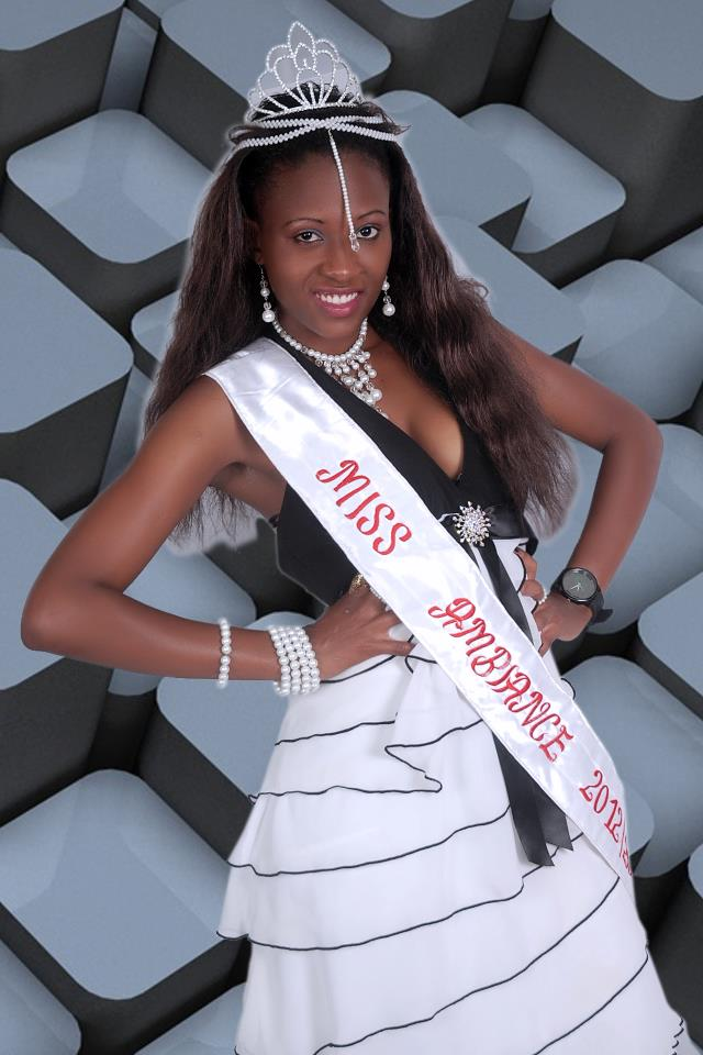 Doreen Kabareebe after she was crowned Miss Ambiance in 2012