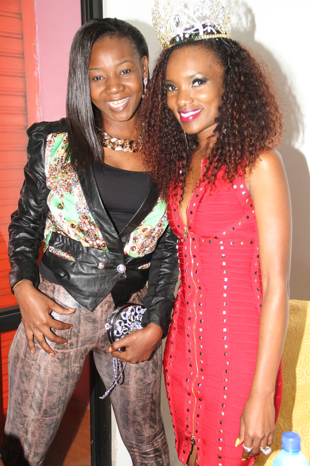 Susan with Barbara Kimbugwe after the official launch of her Diva Fashions
