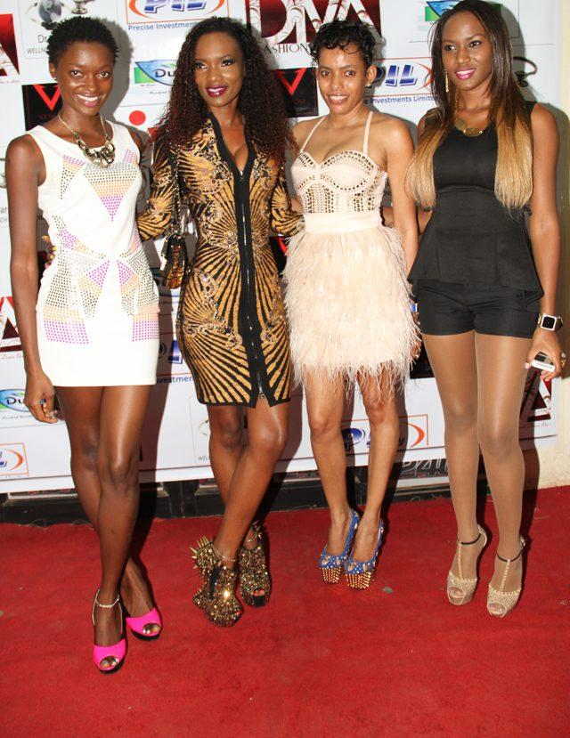 (L-R) Sarah Nyamwenge, Barbra Kimbugwe, Mariam and Sylvia Namutebi at the shop
