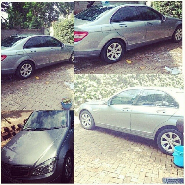 Esther Akankwasa's new car given to her by hubby Damminger