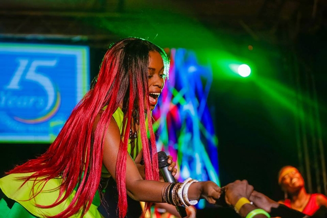 Grace Nakimera also rocked fans at the MTN Party