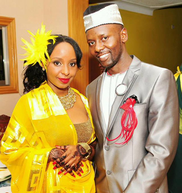 Newly weds: Pherrie and Abdul