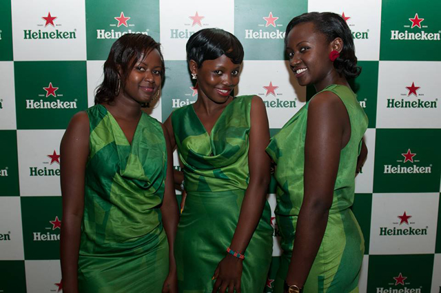 Some of the ushers who were serving Heineken at the Gatto Matto