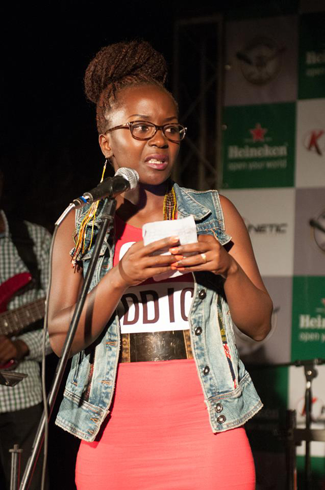 Uganda's funniest woman Anne Kansiime doing her thing on stage