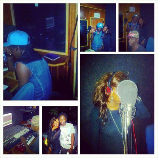 Brenda and AK47 in studio