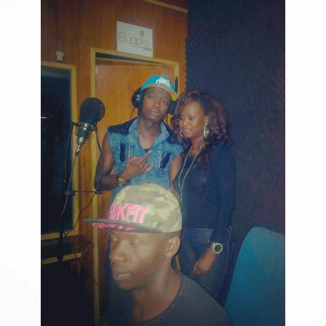 Brenda and AK47 recorded their new song from Boogie Empire Mengo