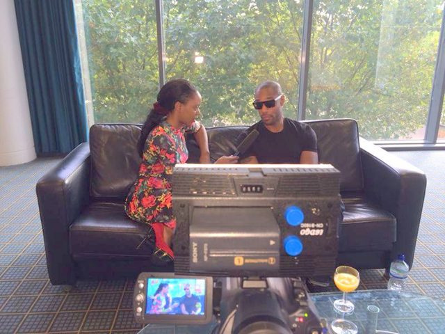 Maria interviewing Tank R' N'B sensation