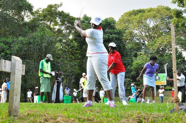Airtel's PRO Pheona Wall, takes a swing during the inaugural training session