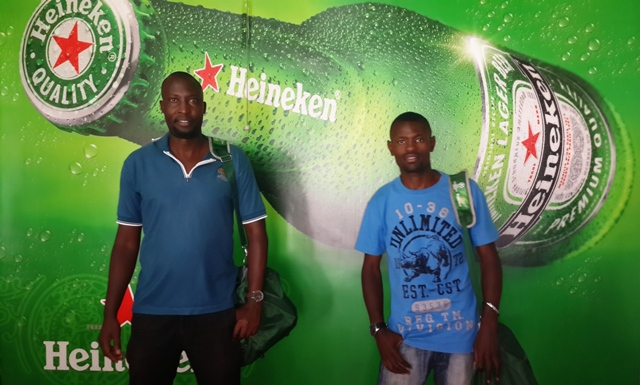 Uganda's Heineken Foosball winners were flown to Ibiza last night