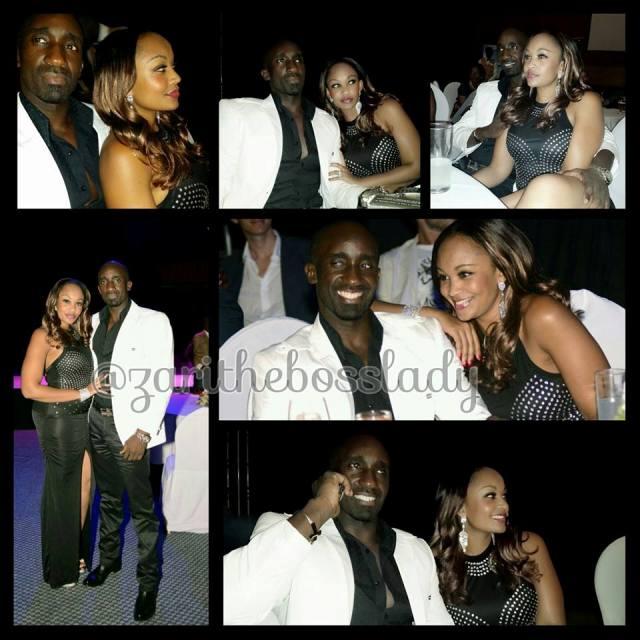 Zari and Farouk cuddling on Saturday at Kampala Serena Hotel during Kampala Fashion Intro night