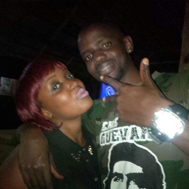Banned; Allan Kiwanuka with a female pal