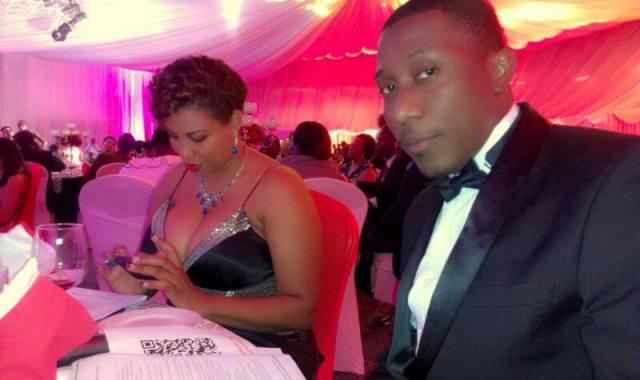 Crystal and Roger Mugisha co-hosted the Superbrands awards together last Friday