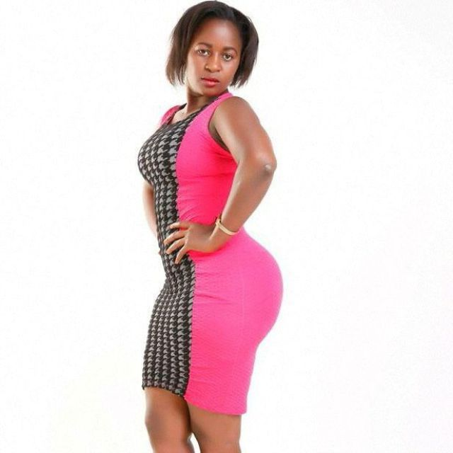 Judy showing off her natural assets. She said she has the biggest natural bums in Kenya