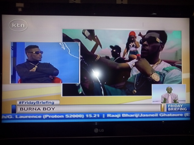 Burna Boy releasing the song on KTN over the weekend