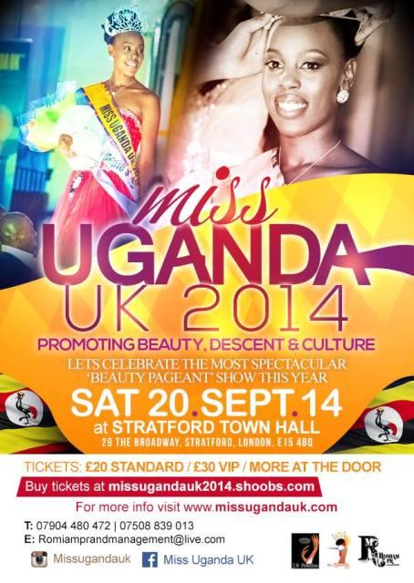 Miss Uganda UK 2014 poster