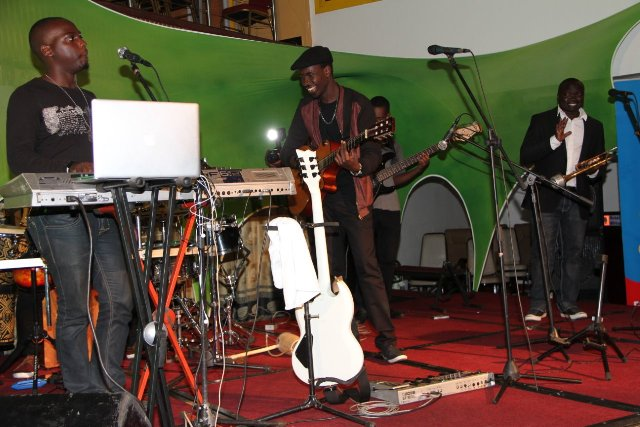 Myko Ouma and his band kept the crowd entertained
