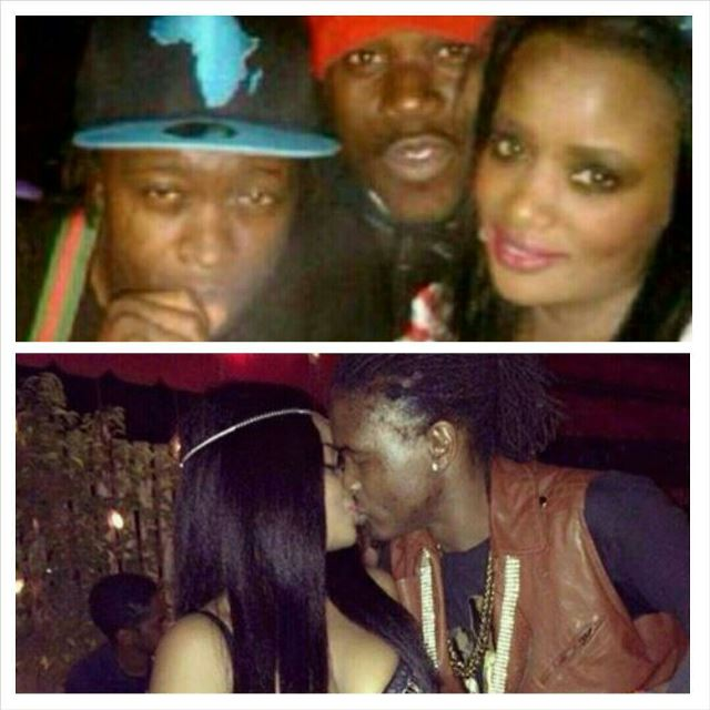 Samira kissing Weasel (below) and above with AK47 when they were still dating