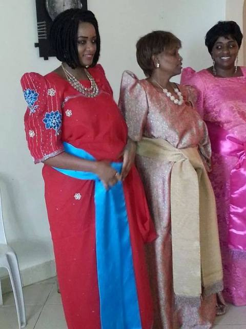 Samira and Friends during the ceremony yesterday