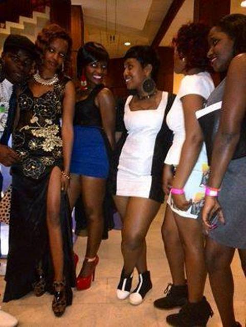 Some of Bebe Cool's fans at Serena last night