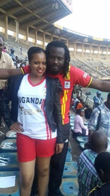 IN 3rd; Bebe Cool seen here with his wife Zuena Kirema