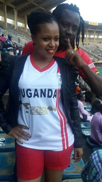 Lovebirds; Zuena and Bebe Cool at a recent Cranes game at Namboole