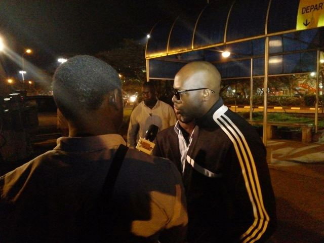 Joe at Entebbe International Airport on his arrival