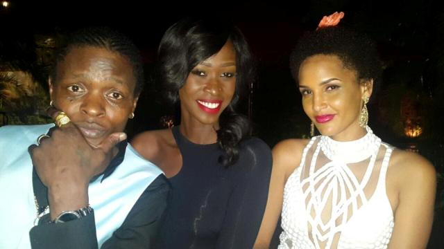 Judith Heard (C) with the Chameleones at Serena Hotel on Tuesday said Mary Luswata will never live like her