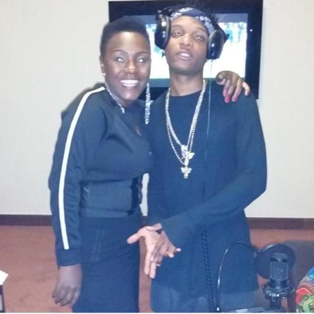 Sylvia Owori with Wiz Kid.The fashionista posted the picture on her Instagram