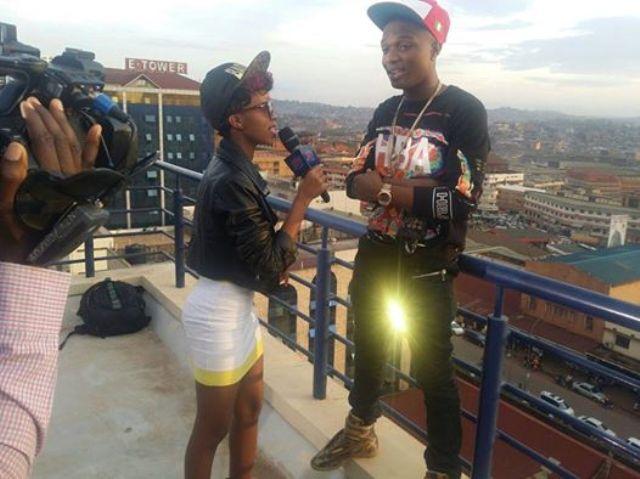Sheila Gashumba interviewing Wiz Kid