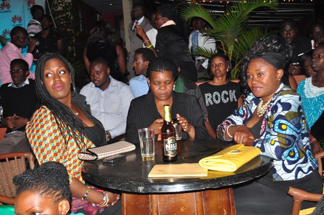 Some of the revellers at the event at Cayenne on Thursday. The house was full