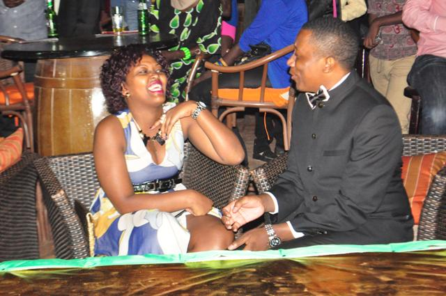 Roger Mugisha and his better half Shibah Richards at event. The couple is inseparable these days