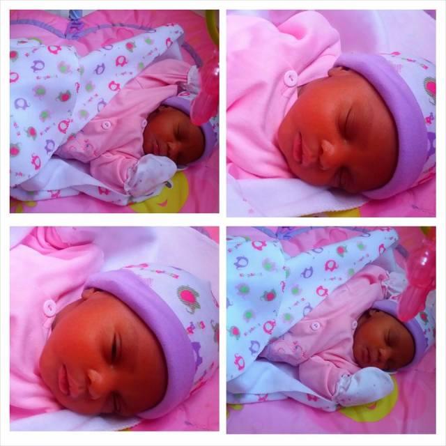 Stacie's newly born child. She named it Cayenne