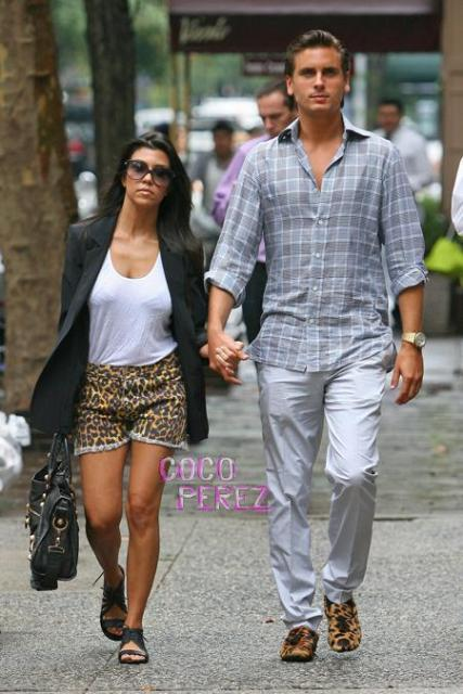 Kourtney and Scott Disick during hey days. The are two are reportedly not on talking terms at the moment