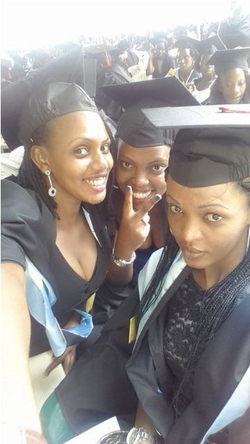Some of the students who graduated at Makerere University last week