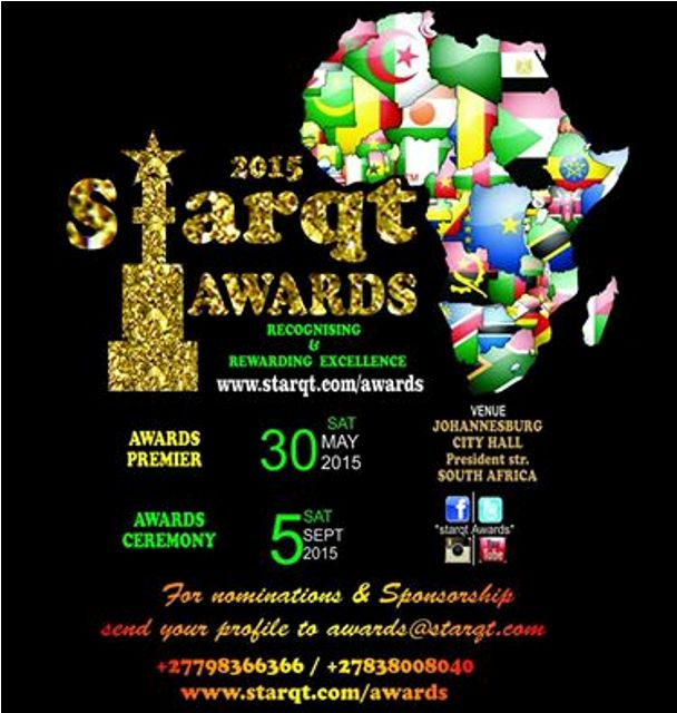 Starqt awards poster showing this year's premiere and ceremony dates