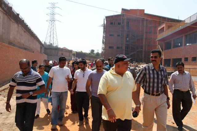 Sudhir taking through parents to the tour of the school