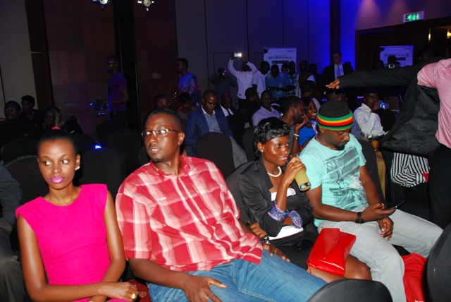 (L-R) Hellen Lukoma, Markus, Saidat and Geatano attentively listening to speeches